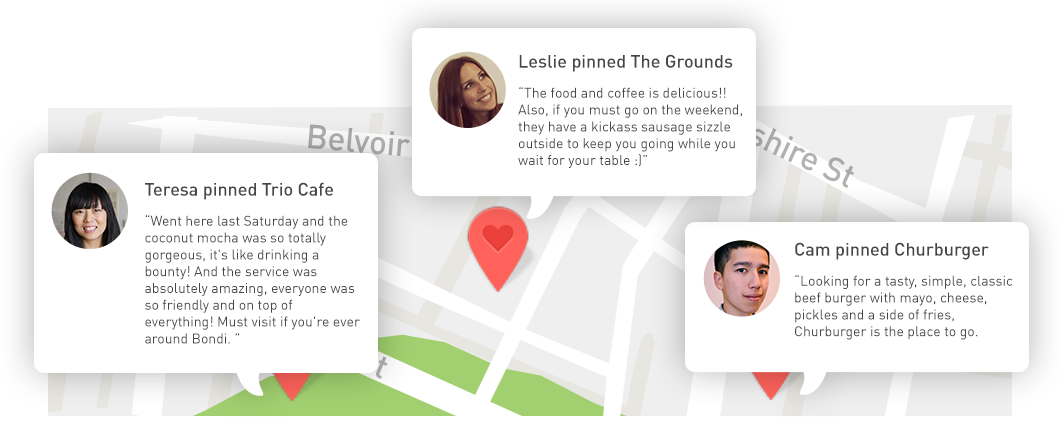 Search and get recommendations from friends